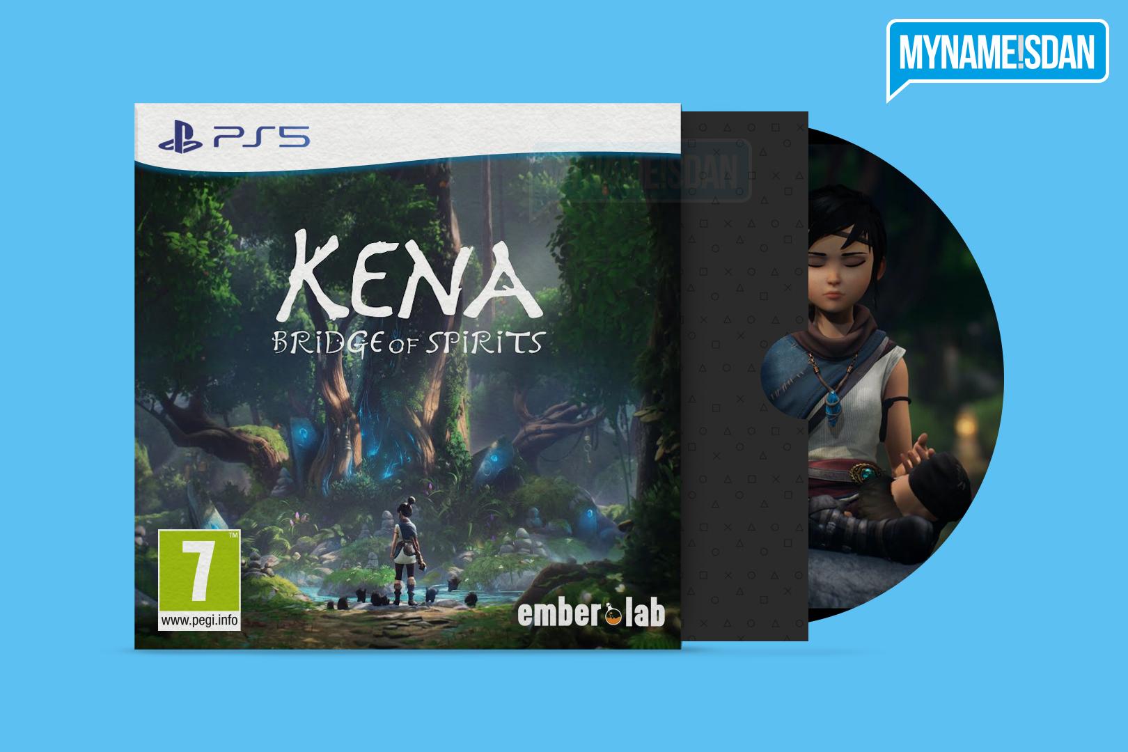 PS5 Cardboard Game Case Concept Design for Kena