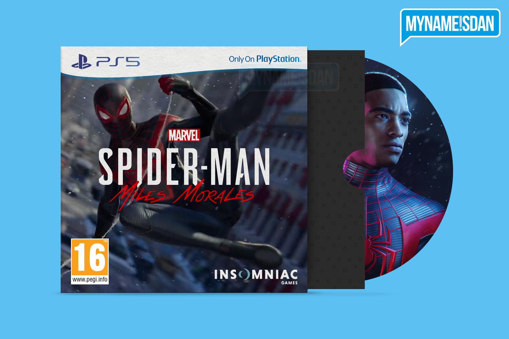 PS5 Cardboard Game Case Concept Design for Spider-Man Miles Morales