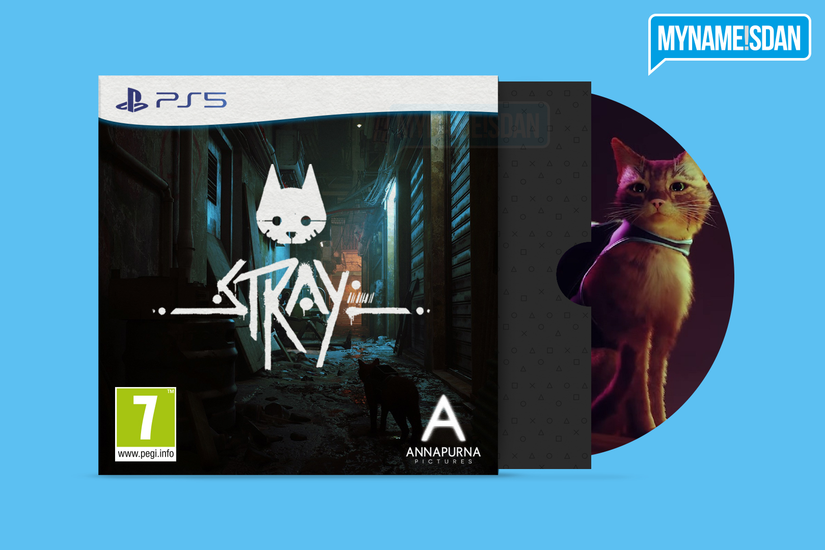 PS5 Cardboard Game Case Concept Design for Stray