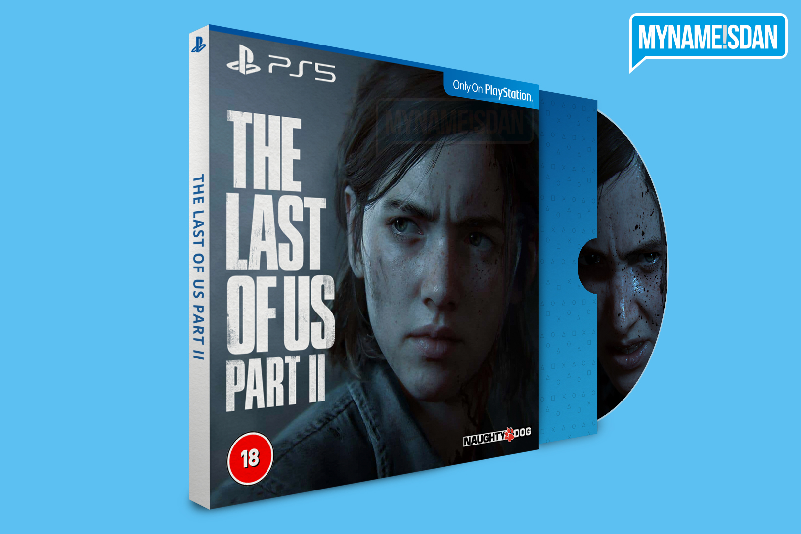 PS5 Cardboard Game Case Concept Design with Spine