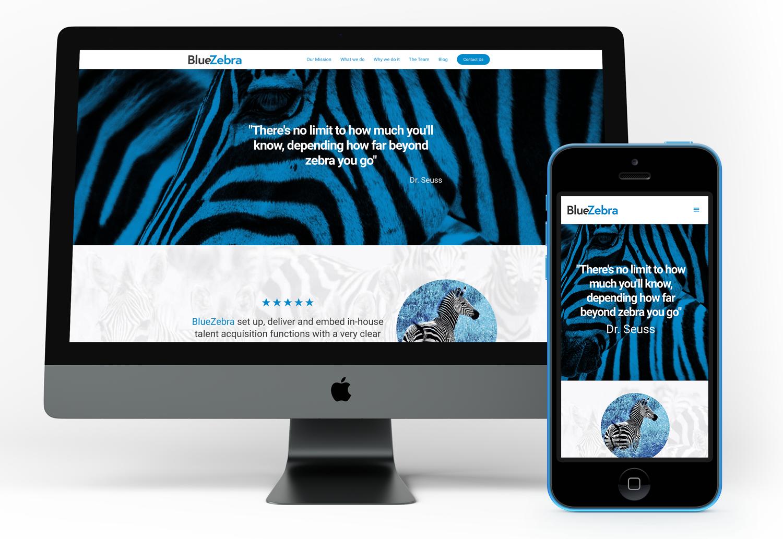 BlueZebra Responsive Website Build in Wordpress