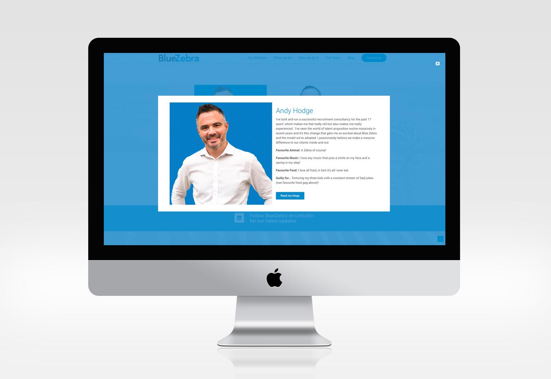 BlueZebra Website Team Popups