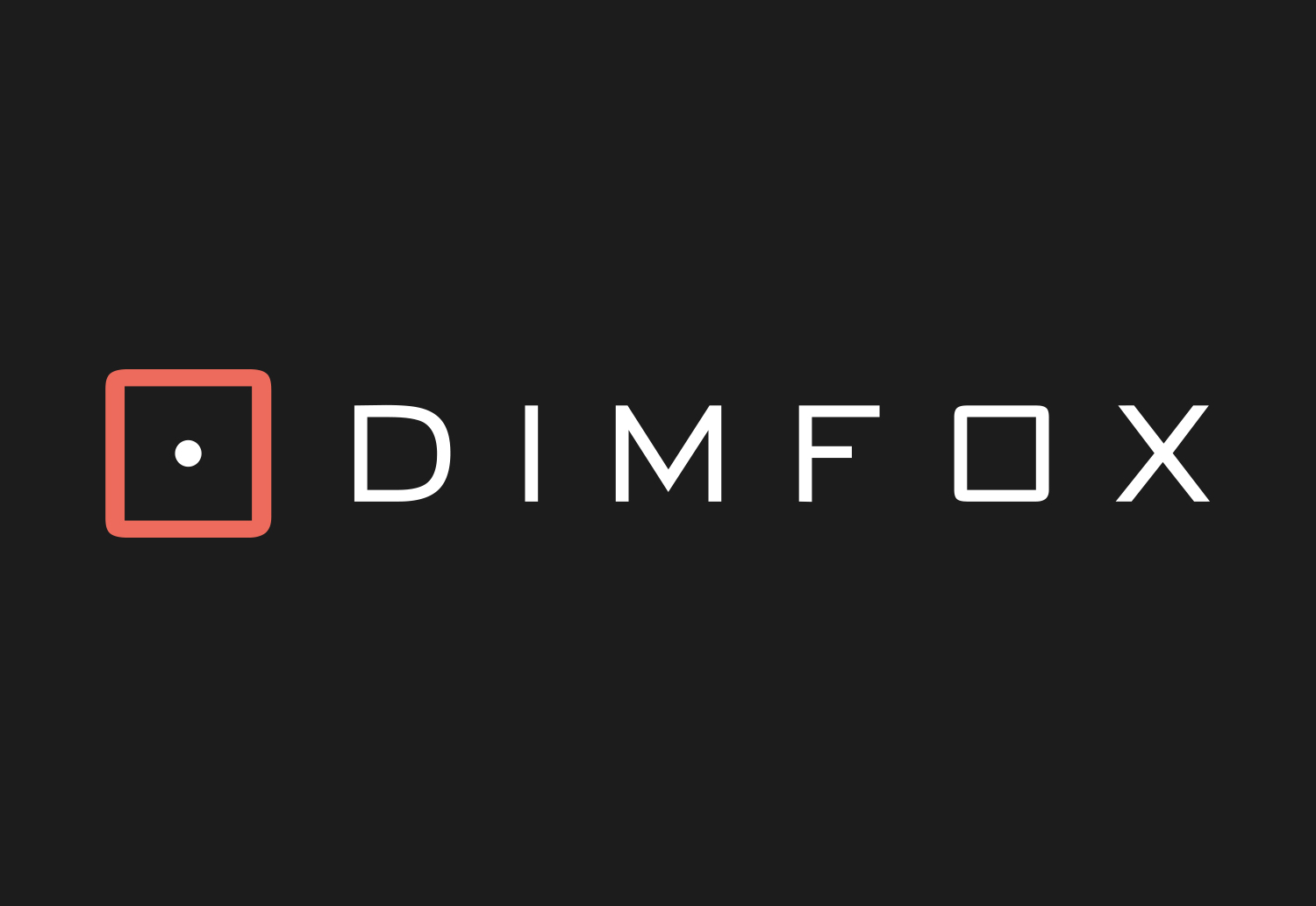 Final DIMFOX Logo Design - Dark Background