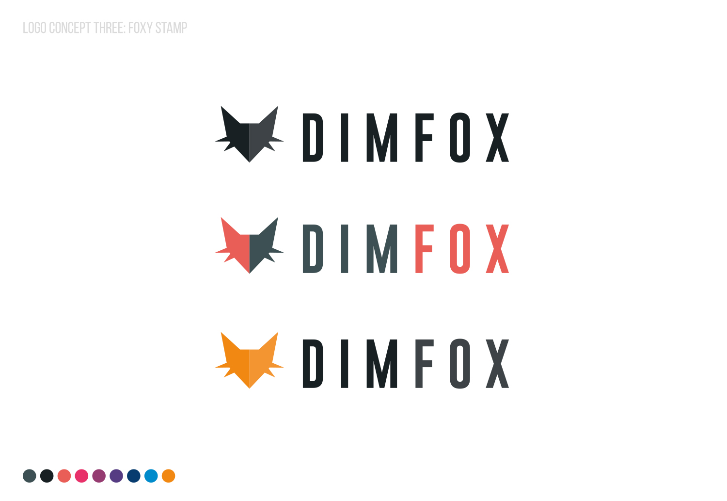 DIMFOX Logo Design -  Unused Concept 4