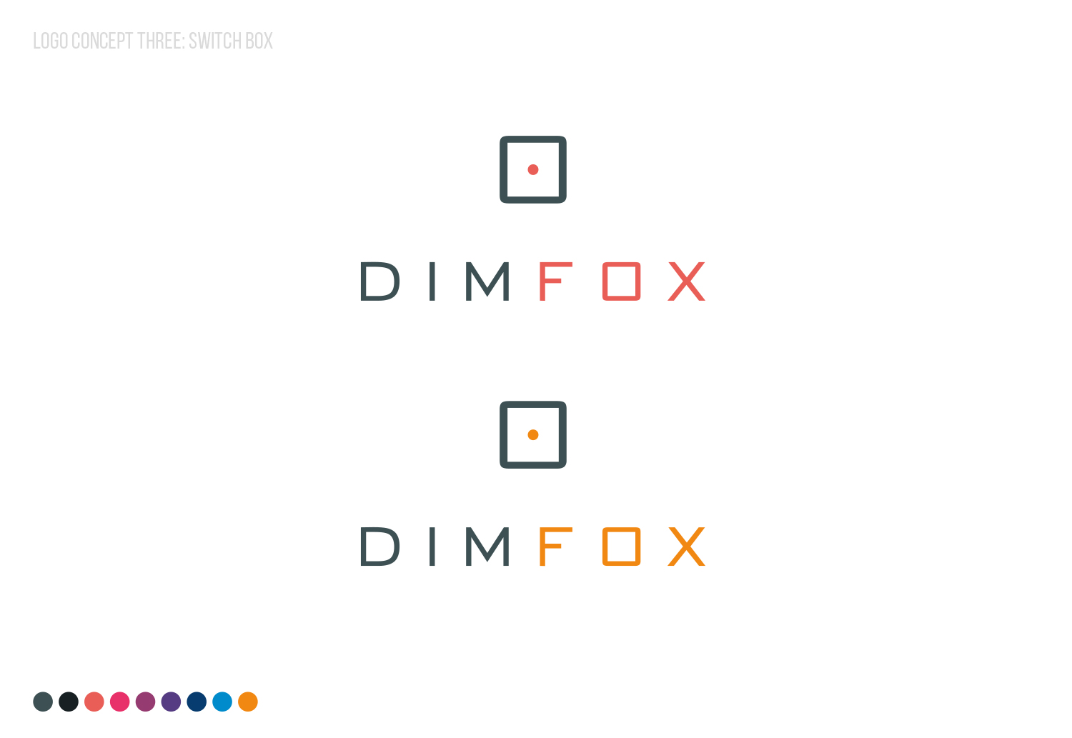 DIMFOX Logo Design -  Unused Concept 3