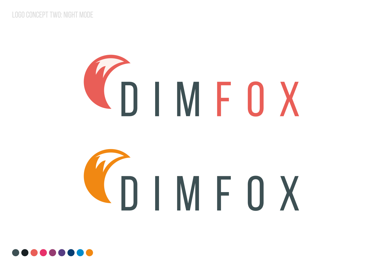 DIMFOX Logo Design -  Unused Concept 2