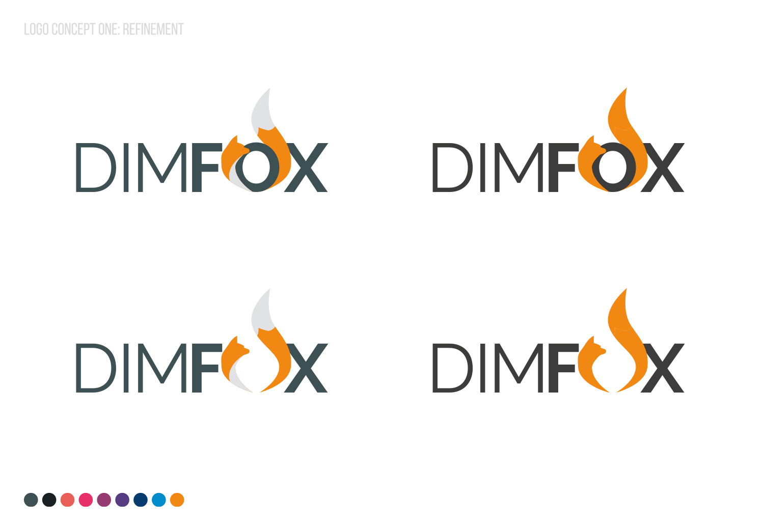 DIMFOX Logo Design -  Unused Concept 1