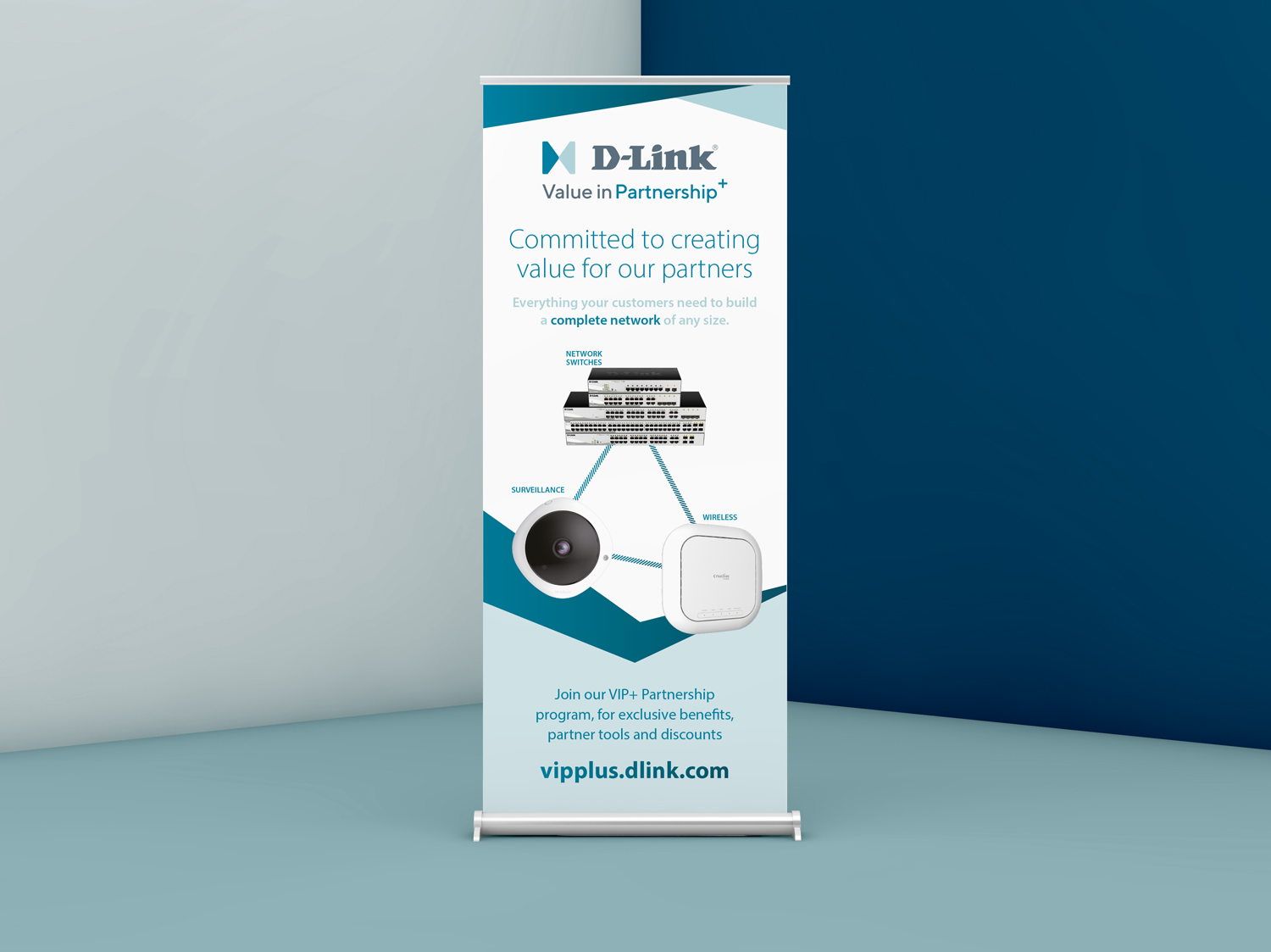 Pull Up Exhibition Banner for D-Link