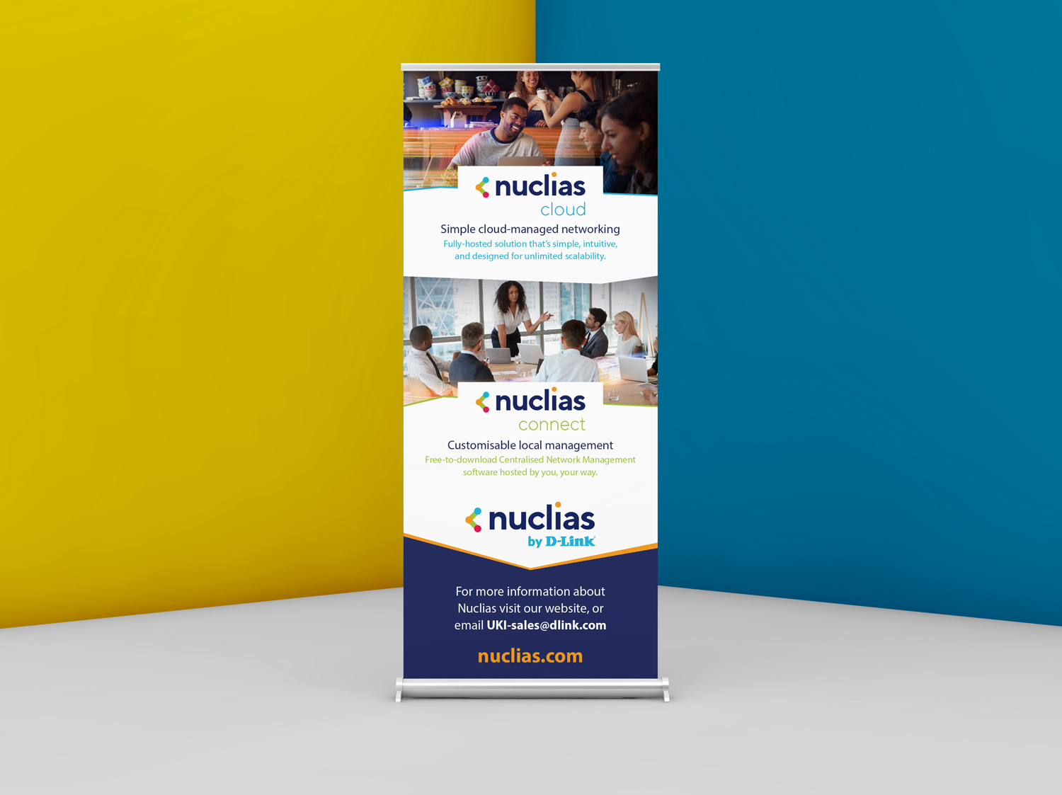 Pull Up Exhibition Banner for Nuclias D-Link