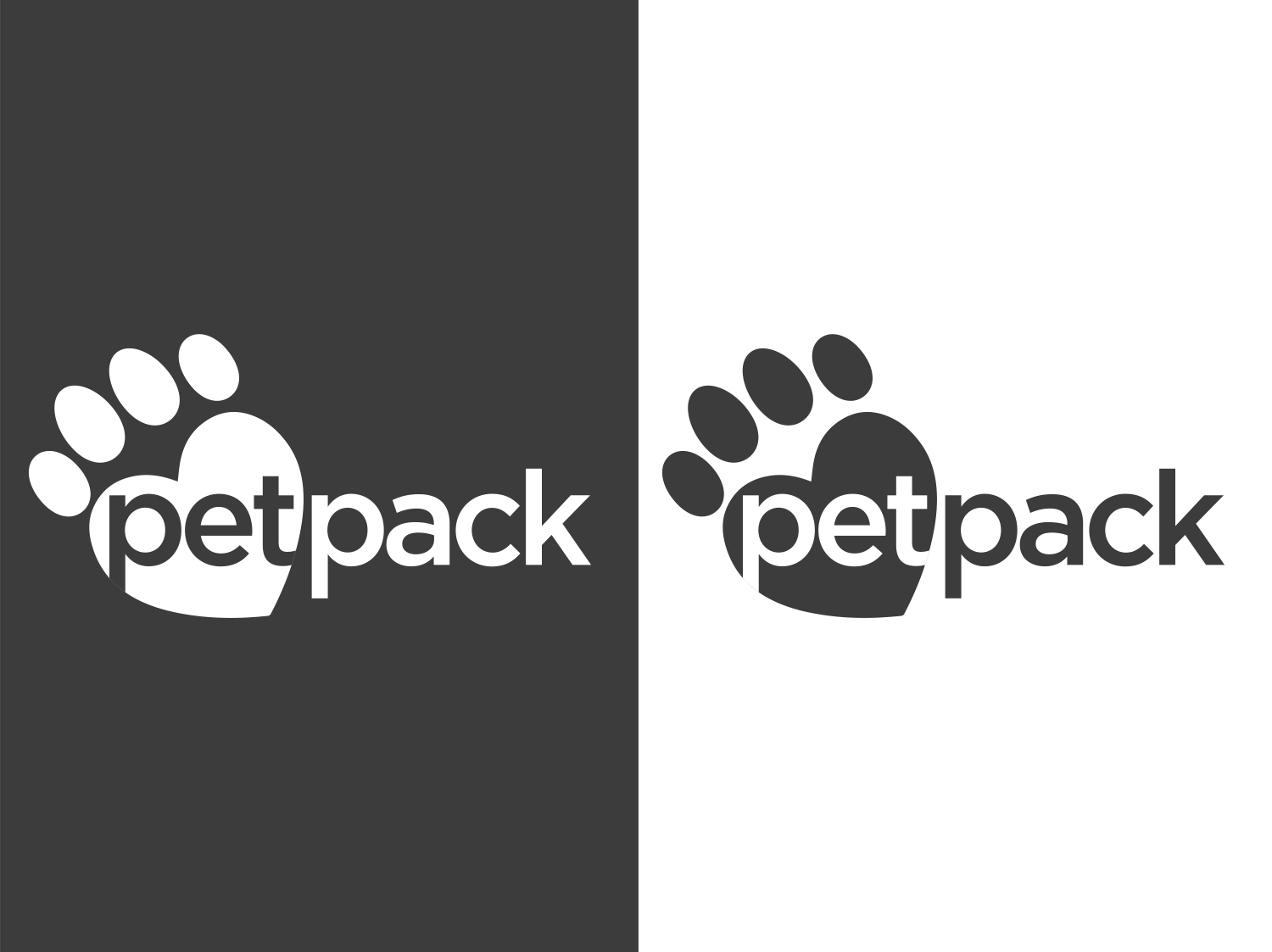 PetPack Logo Design Mono Options - My Name is Dan