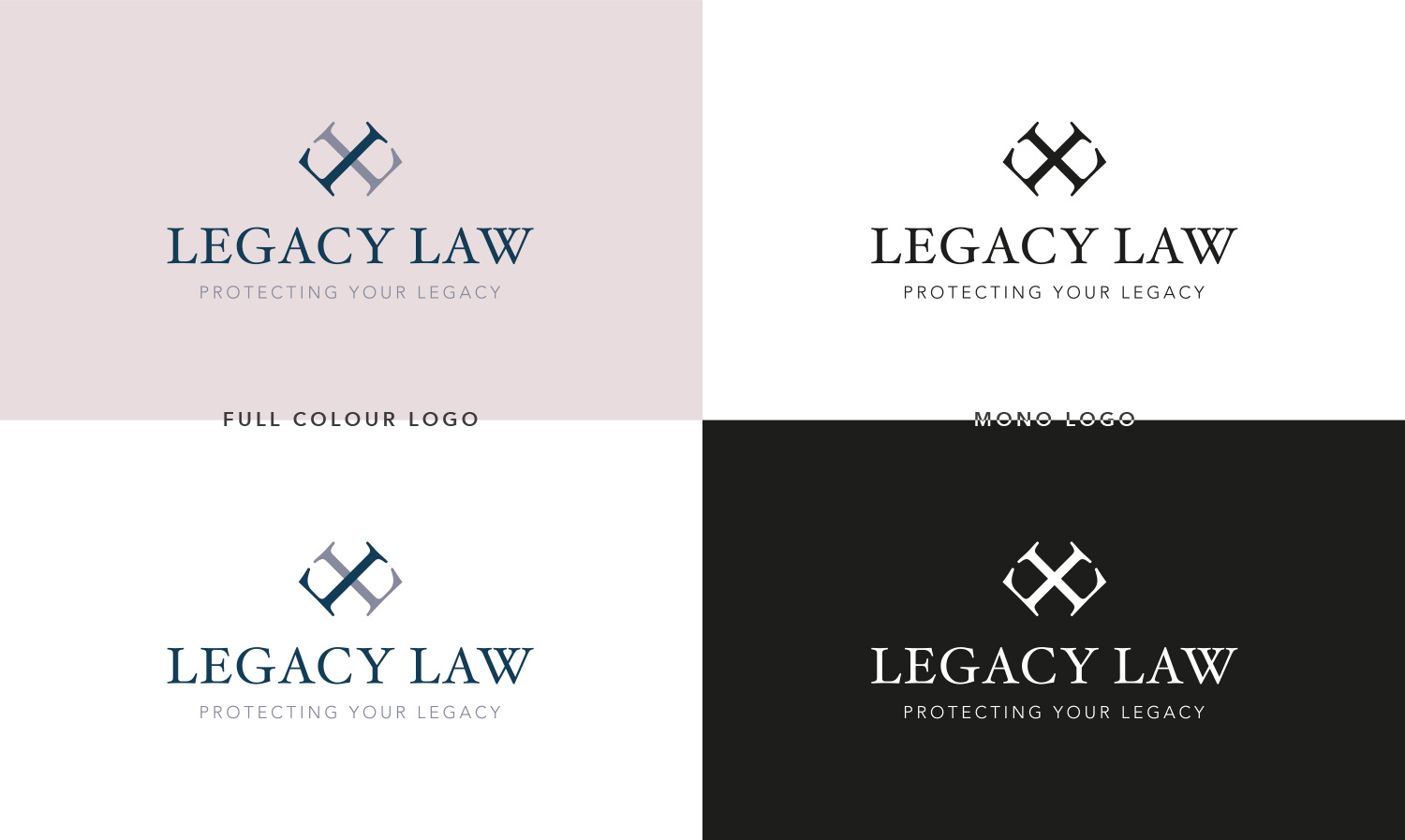 Final Logo Design for Legacy Law - by My Name is Dan