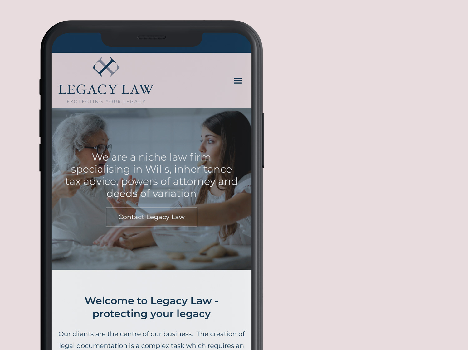 Responsive Web Design for Legacy Law - by My Name is Dan