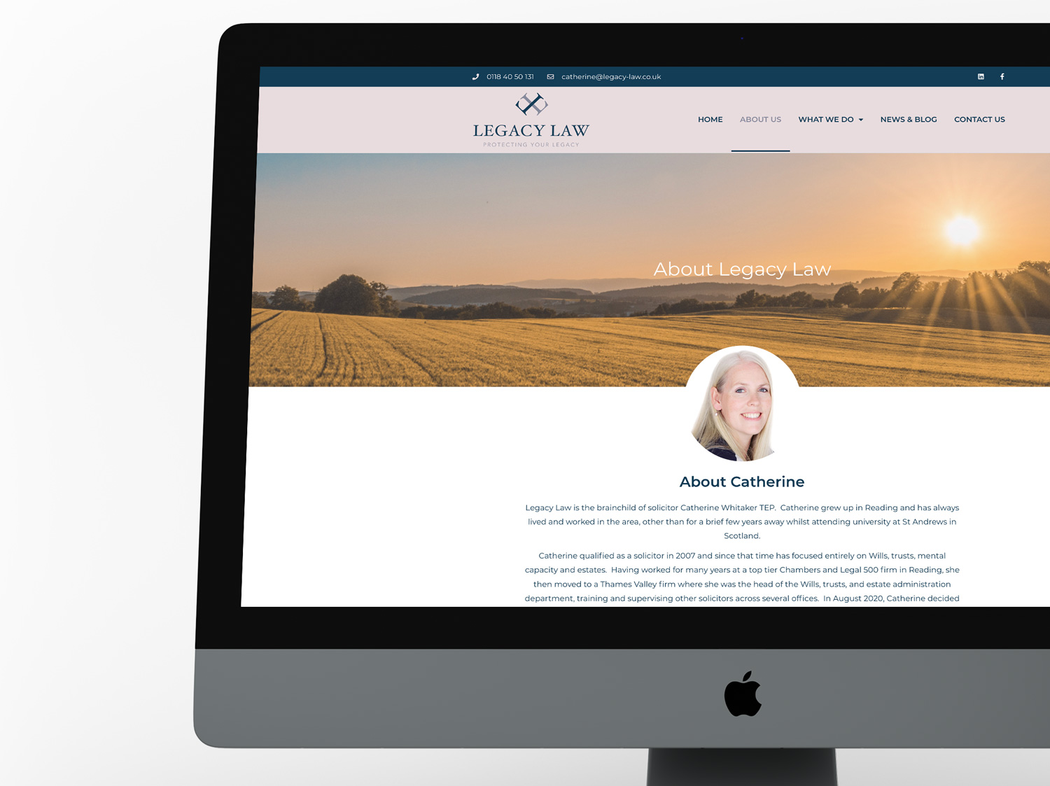 Website Design and Build for Legacy Law - by My Name is Dan