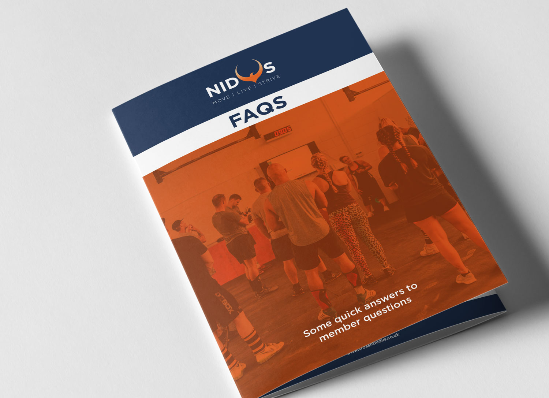 Nidus Rebrand - FAQs Leaflet for New Members - by My Name is Dan