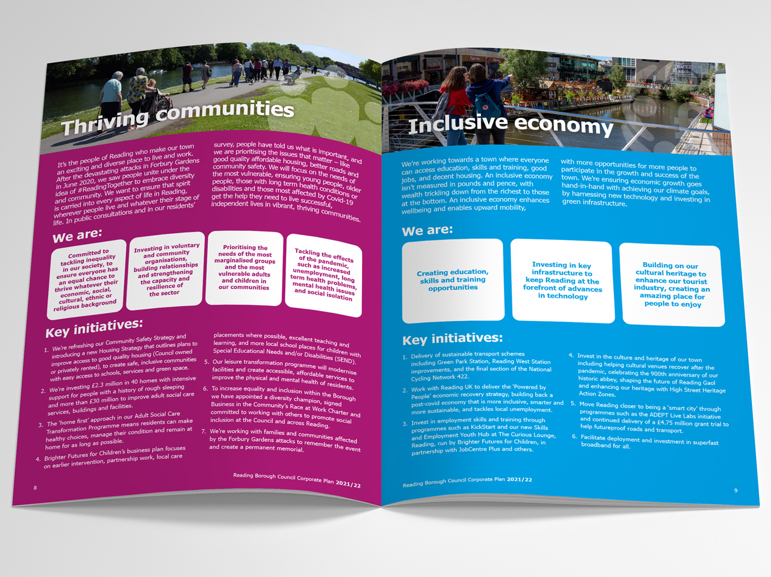 Reading Borough Council Corporate Plan Design 2021 - by My Name is Dan